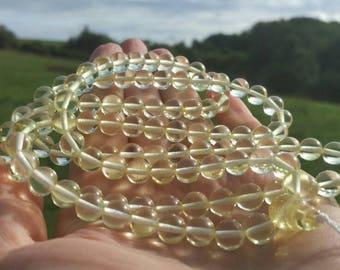 baltic amber 108 bead mala (bead size 7mm)