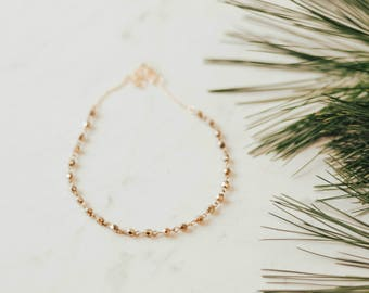 Gold Choker Necklace - Beaded Gold Choker Necklace