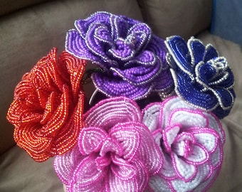French Beaded Flowers