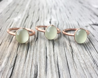 Prehnite Ring | Prehnite Stone Ring | Electroform Ring | Crystal Ring | Stone Ring | Green Ring | Copper Ring