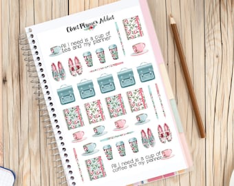 Smell The Planner Roses Planner Stickers | Planner Addict Stickers | Coffee Tea | Stationery | Satchels | Roses Stickers (S-248)