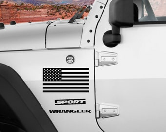 American flag (left and right facing) Vinyl Decal Sticker