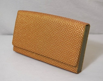 Basketweave - Japanese Kimono Clutch Purse Handbag