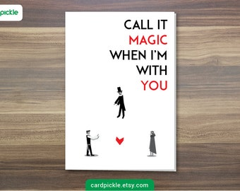 DOWNLOAD Printable Card - Coldplay Magic Card - I Love You Card - Happy Birthday - Happy Anniversary - Valentines Card