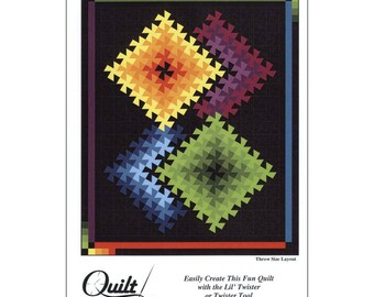 Twister Illusions, Quilt Pattern, Pinwheel Quilt - Marilyn Foreman - Pattern Only, DIY Project