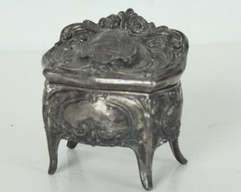 Vintage Jewelry Box, Washington D. C. The Capitol, Souvenir, Casket Shaped, Art Nouveau