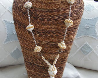 Woven necklace and ring set