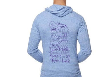 The Planet Needs.. Royal Apparel Triblend Full Zip Hoodie