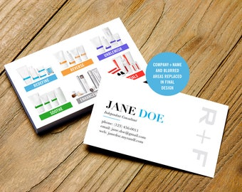 Rodan and Fields Business Cards, R and F Business Card, Rodan Fields Business Card with Regimens, Printable, Digital