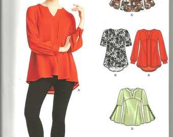 Simplicity New Look 6527 new uncut 8 - 20 womans blouse