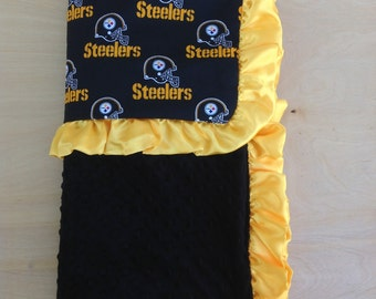 30x36 Baby Blanket -Steelers / Black