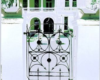 King William District, San Antonio, Texas, Villa Finale, Architecture, Gate, Historical, Home, Southtown, Art Photography