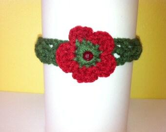 Flower crocheted choker
