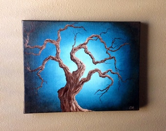 Creepy Tree Oil Painting
