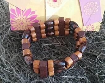 Wooden bracelet, Wood bracelet, Wooden jewelry.