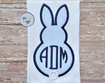 Personalized Easter Shirt - Boys Easter Shirt - Boys Bunny Shirt - Boys Easter Bunny Shirt - Boys Monogram Bunny Shirt - Boys Monogram Shirt