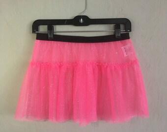Running Skirt - Neon Sparkle Tulle