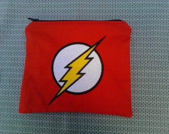 Flash Embroidered Zipper Pouch