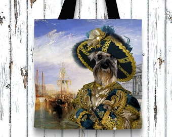 Dog Tote Bag - Miniature Schnauzer Tote Bag - Miniature Schnauzer Art - Miniature Schnauzer