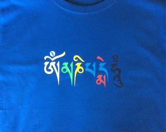 Om mane padme hum organic fair trade tshirt