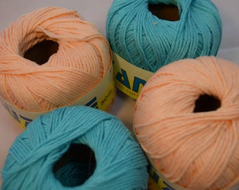 100% cotton yarn in 2 colors