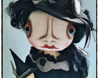 On Sale!  Grimitives Witch Doll Flying