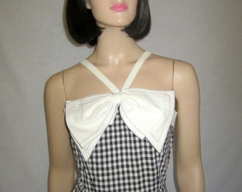 1950's Black and White Checked Sundress