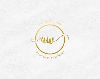 Wedding Photography Logo, Photographer Logo, Photography Watermark, Gold Logo Design, Gold Business Logo, Premade Logo, Gold Business Cards
