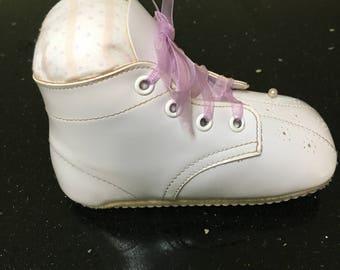 Vintage Baby Shoe Pin Cushion