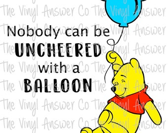 Digital Download Winnie the Pooh Balloon Disney SVG/PNG/PDF