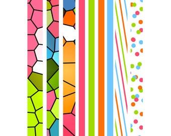 Planner Nerd 'Brights' Washi Tape Strips 003