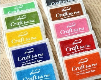 30% OFF Set of 15 colors rubber stamp ink pad---Diary ink pad--For DIY scrapbooking