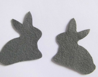 Bunny Grey Easter Bunny Bunny felt Filzhase Eastern Easter table Jewelry Grey