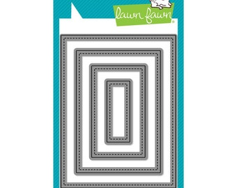 Lawn Fawn Cuts Custom Craft Die Small Stitched Rectangle Stackables