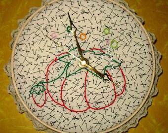 Pin Cushion Clock