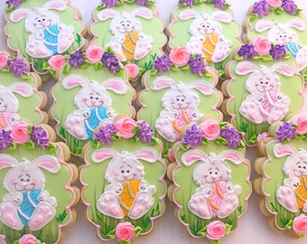 6 Bunny with Easter Egg Sugar Cookies