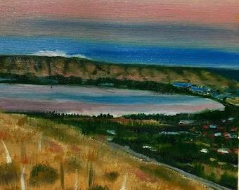 Kinneret   Beautiful Canaan Views   Hand Painted Art