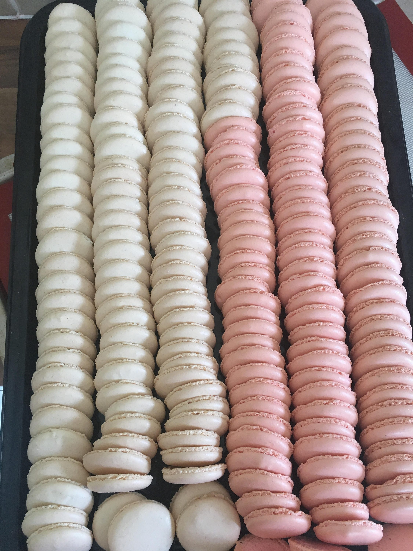 Blush Pink Wedding Favours french macarons macaroons