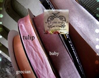 Rayon Seam Binding Ribbon Pink Tulip
