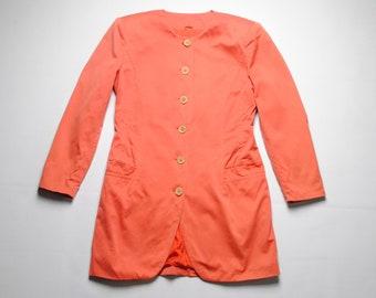 vintage Jil Sander women's long Blazer jacket SIZE 38 authentic dress rose