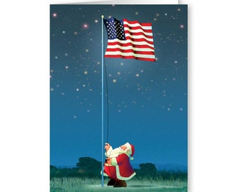 patriotic christmas card 18 cards envelopes american flag 20064 - Patriotic Christmas Cards