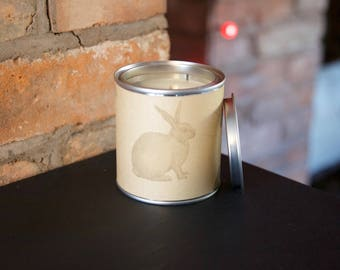 Rabbit gift candle