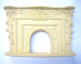 Dollhouse Miniature French Fireplace Mantle
