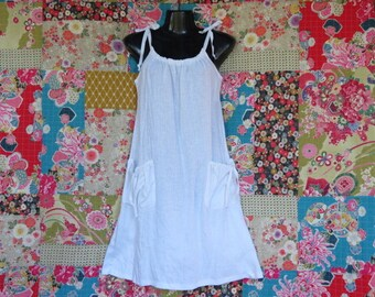 White Linen sundress, Linen clothing, Summer dress, Handmade, Linen dress,  Crushed linen dress,  White dress, Black Dress, Indigo, Red