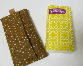 Tissue Case/Brown Dots
