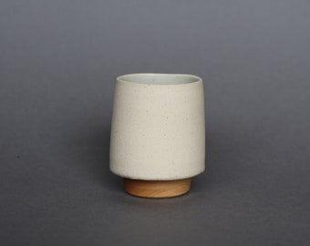 Tapered Vase with Maple Base