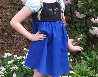 Princess Anna Dress - Frozen Inspired Dress - Anna Frozen Cotton Play Dress - Princess Anna Disneybound - Girls Princess Anna Costume