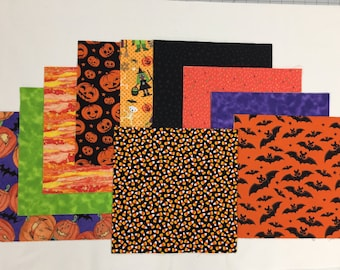 Halloween  Layer Cake 40 -  10 inch Squares