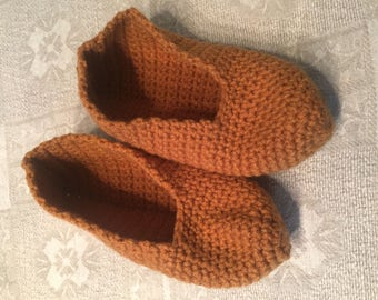 Hand-crocheted women's slippers