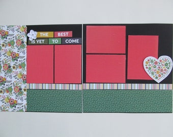 The Best Is Yet To Come Premade,12x12 Scrapbook Layout,  Scrapbook Page Kit, Project Life, Filofax